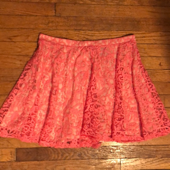 H&M Dresses & Skirts - {H & M} Coral Lace A-Line Skirt size Large